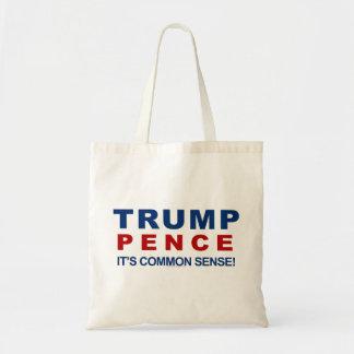 Trump Pence Common Sense Funny 2016 Political Tote Bag