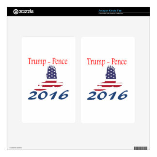 Trump/Pence eagle flag Decals For Kindle Fire