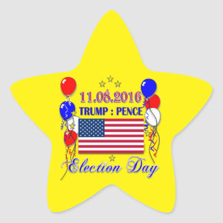 Trump Pence Election 2016 Star Sticker