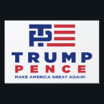 "Trump Pence Election 2016 Yard / Lawn Sign<br><div class=""desc"">Trump Pence Election 2016 Yard / Lawn Sign</div>"