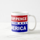 Trump Pence for America red white and blue Coffee Mug