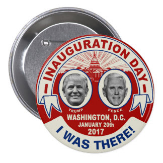 Trump Pence I Was There Inauguration Day Souvenir Button