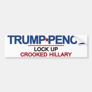 Trump Pence Lock Up Crooked Hillary Bumper Sticker
