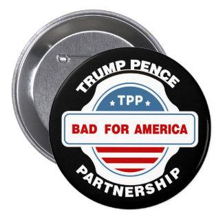 Trump Pence Partnership Pinback Button