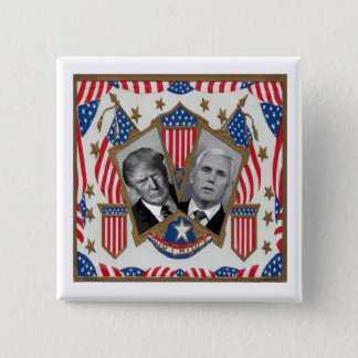 Trump & Pence Pinback Button