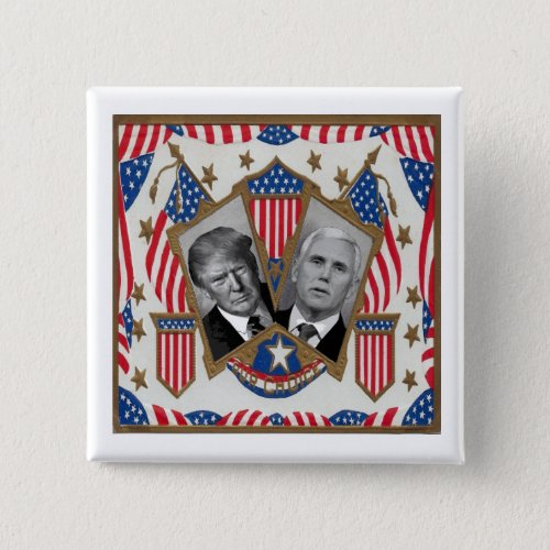 Trump  Pence Pinback Button
