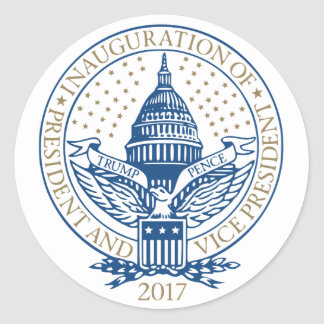 Trump Pence President Inaugural Logo Inauguration Classic Round Sticker