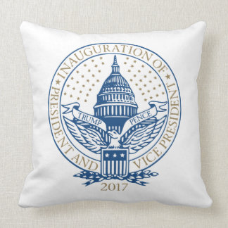 Trump Pence President Inaugural Logo Inauguration Throw Pillow
