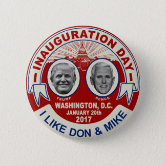Trump Pence Retro Style Inauguration Day Souvenir Button