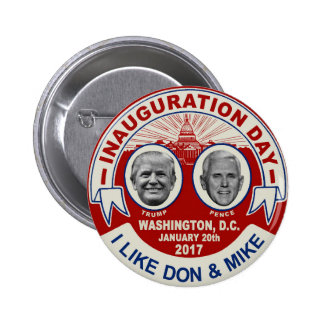 Trump Pence Retro Style Inauguration Day Souvenir Button