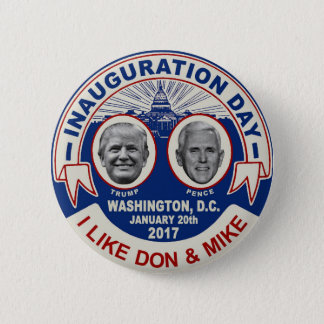 Trump Pence Retro Style Inauguration Day Souvenir Pinback Button