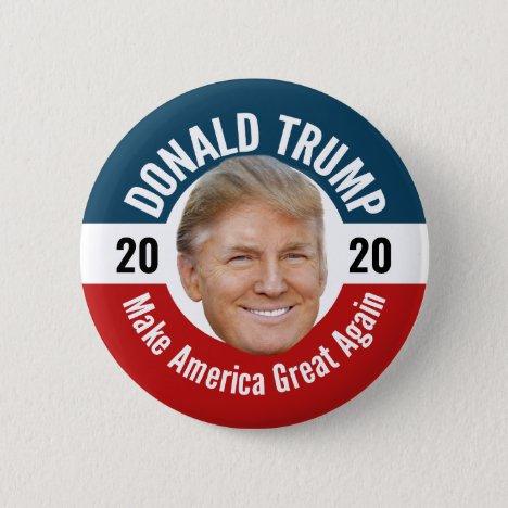 Trump Photo - Floating Head Design Button