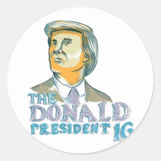 Trump President 2016 Drawing Classic Round Sticker