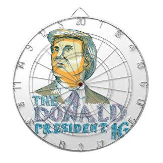 Trump President 2016 Drawing Dart Boards
