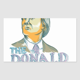 Trump President 2016 Drawing Rectangular Sticker