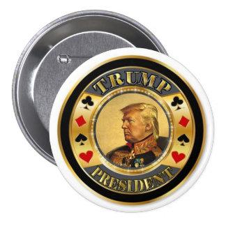 Trump President Casino Chip 3 Inch Round Button