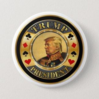 Trump President Casino Chip Button