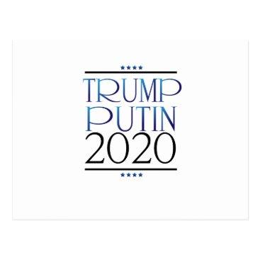 de_look Trump Putin For President 2020 Campaign Funny Postcard