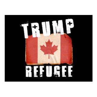 Trump Refugee - American Refugee - -  - white -.pn Postcard