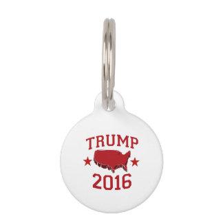 Trump Republican President for America 2016 Pet ID Tag