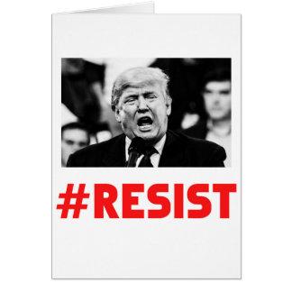 TRUMP RESIST CARD