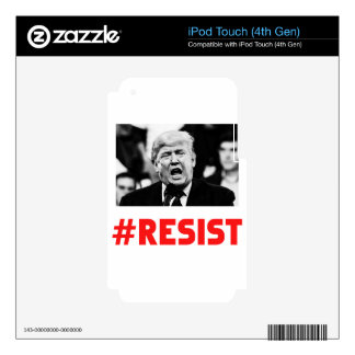 TRUMP RESIST iPod TOUCH 4G DECAL