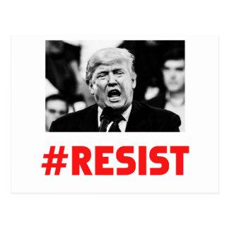 TRUMP RESIST POSTCARD