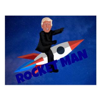 Trump Rides a Rocket Postcard