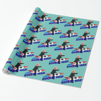 Trump Rides a Rocket Wrapping Paper