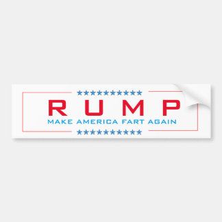 "Trump, ""Rump"" parody, make america fart sticker"