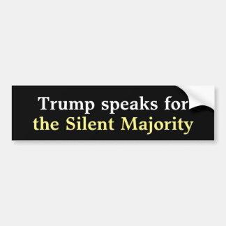Trump Silent Majority Bumper Sticker. Car Bumper Sticker