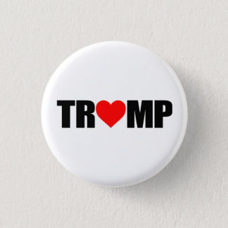 """'TRUMP' SPELLED WITH HEART"" BUTTON"