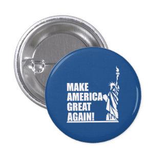 Trump - Statue of Liberty 1 Inch Round Button