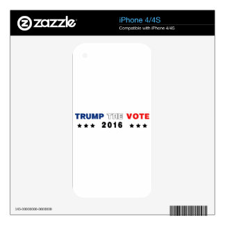Trump The Vote 2016 Skin For The iPhone 4S