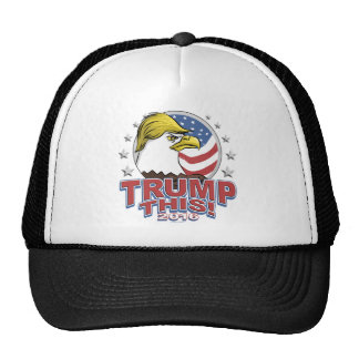 Trump This 2016 Not So Bald Eagle Trucker Hat