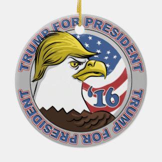 Trump This Not So Bald Eagle Ceramic Ornament