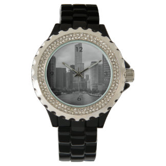 Trump Tower Chicago River Grayscale Watch