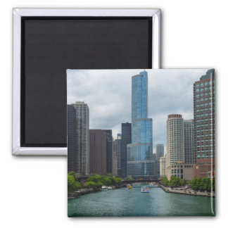 Trump Tower Chicago River Magnet