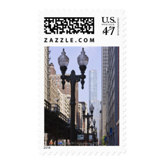 Trump Tower in the Background Postage Stamp