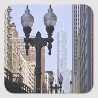 Trump Tower in the Background Square Sticker