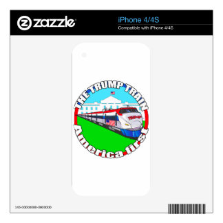 Trump Train America first Decals For iPhone 4S