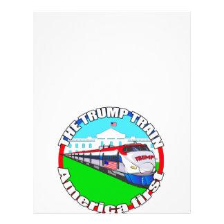 Trump Train America first Letterhead