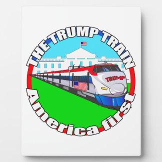 Trump Train America first Plaque