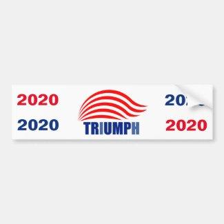 Trump Triumph 2020 Bumper Sticker