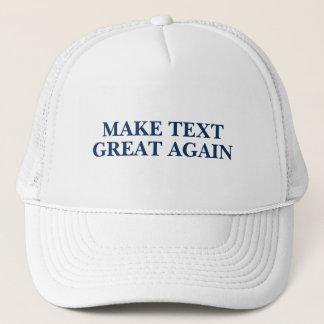 Trump Trucker Custom Text Trucker Hat