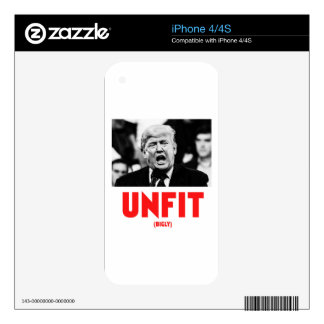 TRUMP UNFIT DECAL FOR THE iPhone 4S