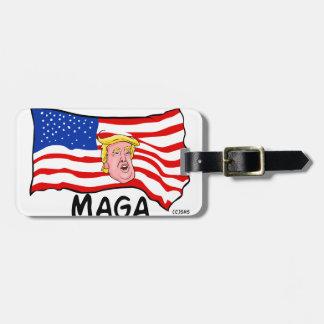 TRUMP US FLAG MAGA BAG TAG