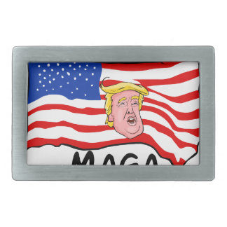 TRUMP US FLAG MAGA BELT BUCKLE