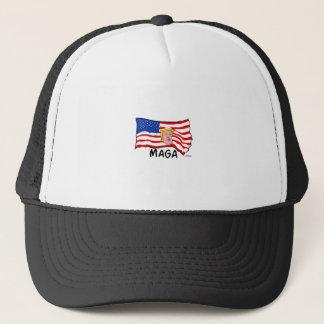 TRUMP US FLAG MAGA TRUCKER HAT