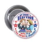 Trump versus Hillary 2016 2 Inch Round Button